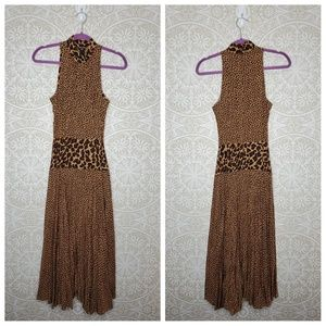 Sue Wong Vintage Animal Print Midi Dress 4 8A44